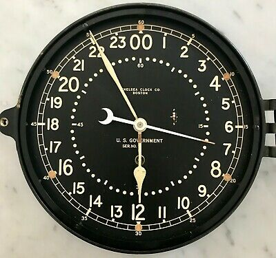 "VINTAGE CHELSEA US GOVERNMENT CLOCK 10"" 24HR - Ser# 553723 - 1945-1949"