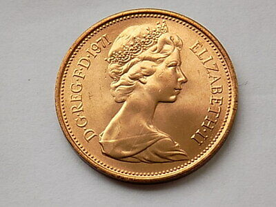 1971 2p New Pence Coin, mintage 1,454,856,250 UNCIRCULATED from mint roll