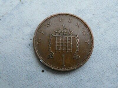 1979 1p New Penny (mintage 459,000,000) common circulated British decimal coin