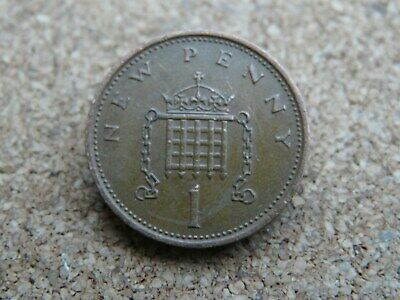 1975 1p New Penny (mintage 221,604,000) common circulated British decimal coin