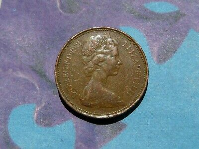 1971 2p New Pence, mintage 1,454,856,250 - one of the UK's least valuable coins!
