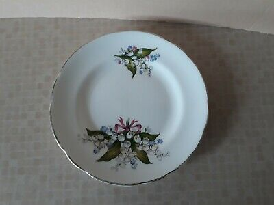 Vintage Regency Lily of the Valley Bone China Side Plate