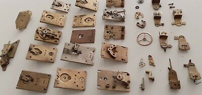 Mixed  Lot  Of Various Platform Balance Clock Parts.for Spares Or Repairs Only.