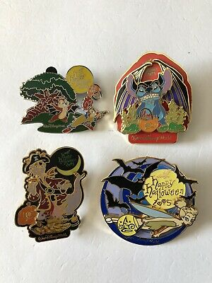 WDW Trick or Treat 4 of 9 Halloween Pins Stitch w/Chernabog wings LE1500 Pins
