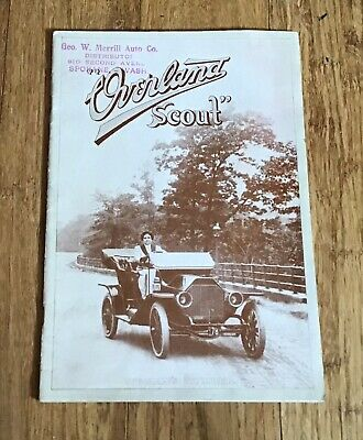 """Antique 1910 Willy's Overland Scout Car Brochure Magazine """"Woman's Number"""" RARE"""