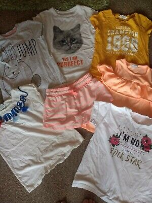Girls Summer Clothes Bundle H&M/Matalan/TU/George Age 10-11 & 10 years
