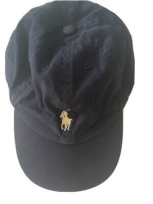 GENUINE RALPH LAUREN DESIGNER BASEBALL CAP HAT GREY BLUE Age 4-7