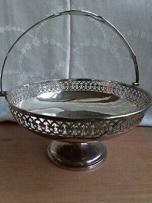 Antique Victorian Epns Silver Plated Fruit Dish / Basket / Tazza / Centrepiece