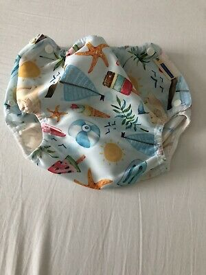 Brand New Motherease Just Beachy Airflow Lg Large Cloth Nappy Wrap Cover