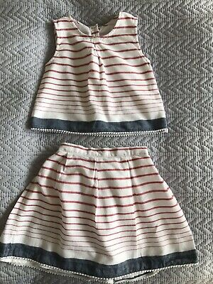 Matalan Girls Co ord Top and Skirt Age 3-4