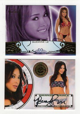 Benchwarmer Asian Girls Brandy Grace Suzanne Le Autograph card Bonus Flo Jalin