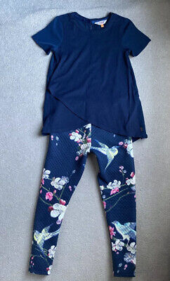 girls ted baker top and leggings Age 7-8