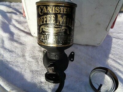 Antique Wilmot Castle Canister Cofffee Wall Mount Grinder 1891