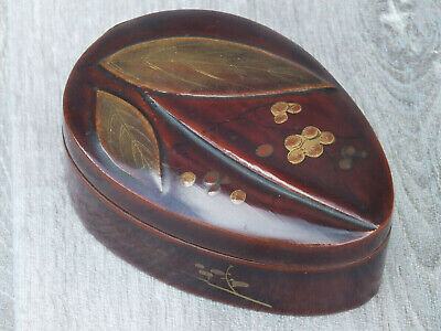 Vintage Unusual Shape Japanese Lacquer Box / Kogu; Could be Late Edo Period