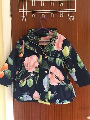 Stunning Floral Ted Baker Waterproof Hooded Coat Aged 4 Years. Immaculate