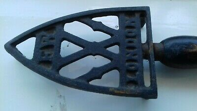 Antique vintage flat cast iron stand
