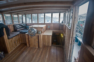 Converted fishing boat, Livaboard on residential mooring in near Falmouth.