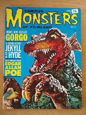 FAMOUS MONSTERS horror magazine issue 11 October 1961. GORGO film feature