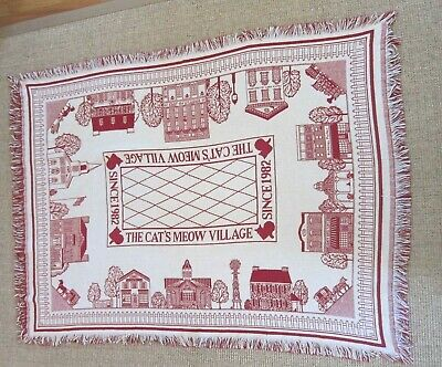 Vintage Cat's Meow Throw Blanket