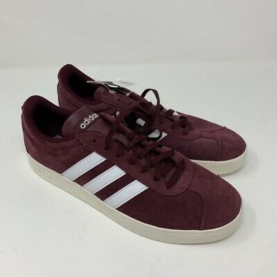 Adidas Mens VL Court 2.0 Skate Shoes Purple Lace Up Ortholite Sneakers 9 New