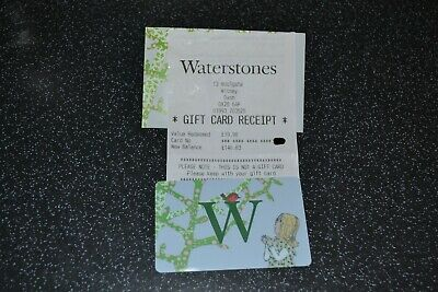 Waterstones gift card book voucher £140.83, with receipt 21/12/2019