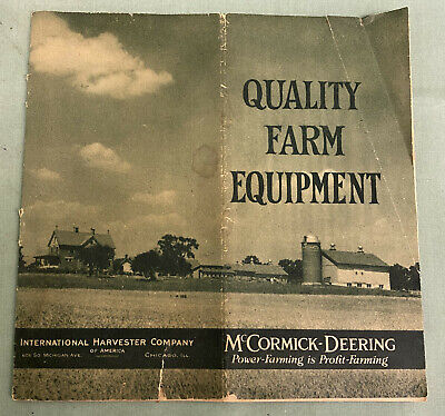 Early Antique McCormick Deering Farm Machinery @1922 International Harvest Catal