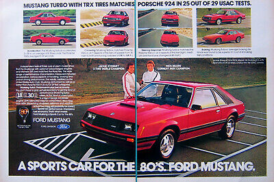 Vintage Advertisement 1980 Ford Mustang