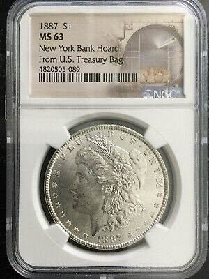 1887 P New York Bank Hoard $1 MS 63