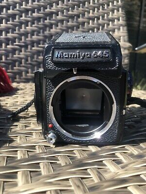 Mamiya M645J Camera Body with Metered Prism Finder and 120 Film Insert
