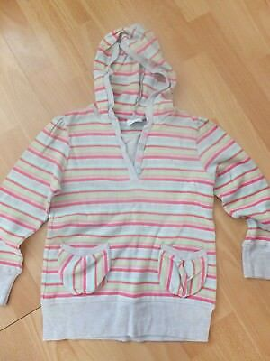 Girls Striped Long Sleeve Top/Hoody From Next Age 7 Years