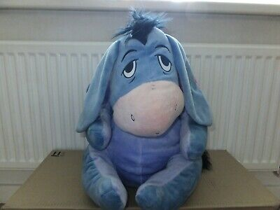 Large Disney Winnie The Pooh Eeyore Plush Cuddly Height 21""