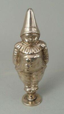 Dutch or French unusual silver two faced clown figure miniature seal base