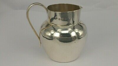 1915 Solid silver fat belly miniature Jug