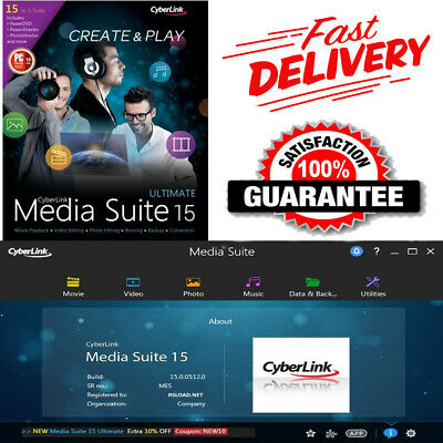 Cyberlink Media Suite 15 Ultimate ✅ Full Version ✅ Lifetime ✅ Fast Delivery