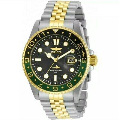 Invicta Mens Pro-Diver 30625 Two-Tone Black,Green Bezel 43MM Case 100M WR Watch