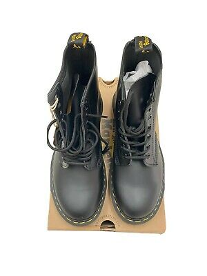 Dr. Martens Unisex 1460 Smooth Black Leather 8 Eyelet Boots Size US W 9 M 8