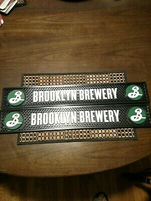 "Two Brooklyn Brewery Spill Mats 24X4X1/2"" Brand New."