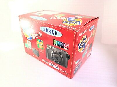 VERY RARE BOXED <UNUSED> Fujifilm Instax 500AF Instant Film Camera Japan 2384