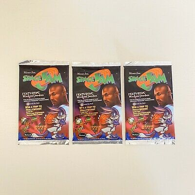 Unopened 1996 Space Jam Upper Deck 8 Card 3 Pack Lot Michael Jordan Basketball