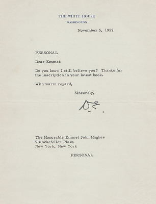 Dwight Eisenhower - Typed Letter Signed - Thanks Friend & Future Critic for Book