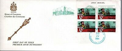 1984 #1011 Jacques Cartier UR PL BLK FDC with House Of Commons cachet