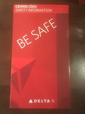 Lot of 4 - SkyWest Airlines CRJ 200/700/900 (Delta) Safety Card 2011/2012