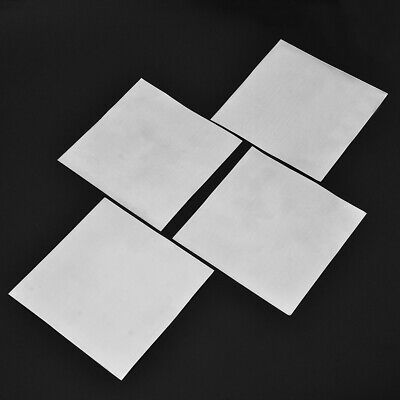 5x High Purity 99.9% Pure Zinc Sheet Plate for Science Lab 140*140*0.2mm