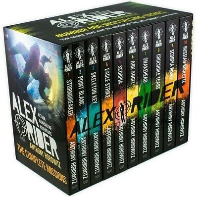 Alex Rider Box Set Collection 10 Books Brand New And Sealed