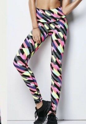 Victoria's Secret VSX Knockout Legging Small s Pink Black Geometric Pants Tight