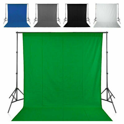 White Screen Studio Background Photo Video Backdrop Stand Photography Kit Set US