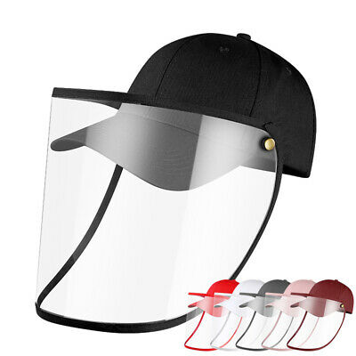 Safety Windproof Hat Full Face Shield Protective Baseball Cap For Men Women