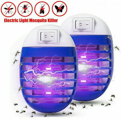 2* Electric UV Light Mosquito Killer Insect Fly Zapper Bug Trap Catcher Lamp cd