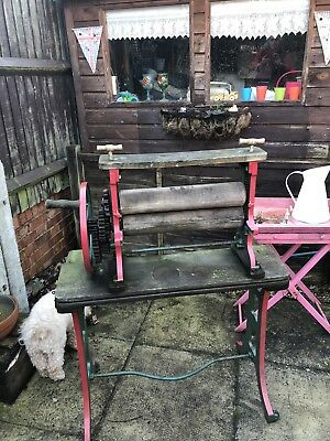 vintage Cast Iron Mangle reasonable condition wrought iron complete