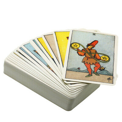 Tarot Cards Deck Vintage Antique Colorful Card Box Game